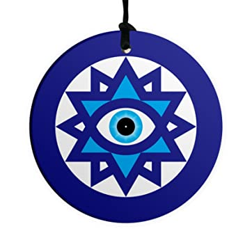Amazon Evil Blue Eye 10cm Ceramic Wall Hanging Lucky Kaballah