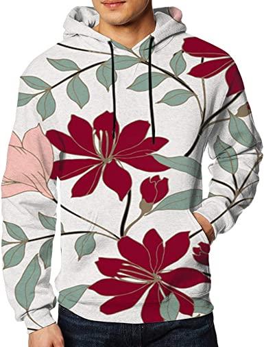 Unisex 3D Abstract Printed Hoodies Pullover Spring and Autumn Hooded Sweatshirts