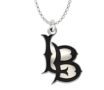 Amazon california state long beach 49ers 12 pendant necklace california state long beach 49ers 12quot pendant necklace antique finish sterling silver aloadofball Choice Image