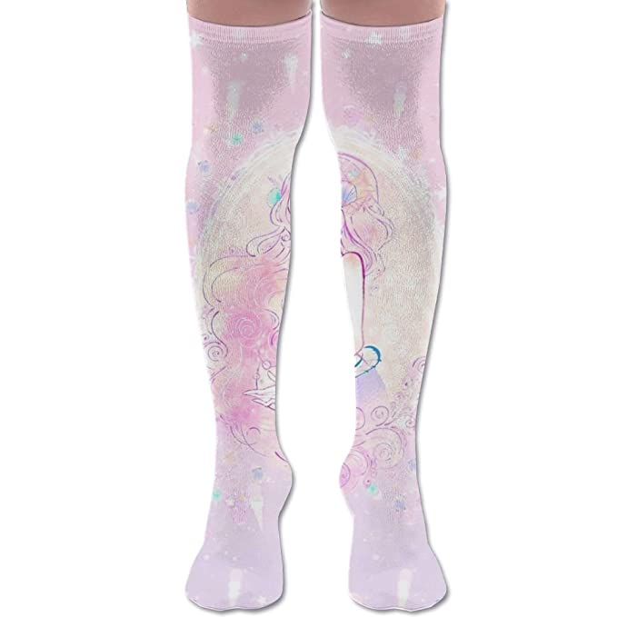d6591f48be3 Mermaid Tail Knee High Compression Socks Comfortable Thick Pregnancy Teen  Over The Knee Socks