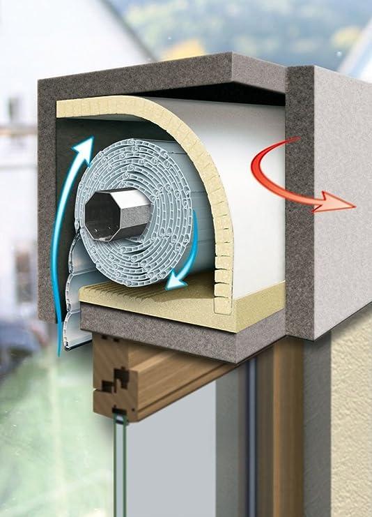 Schellenberg 66252 - Pack de 2 aislamientos para cajón de persiana (100 x 50 cm, grosor del material 13 mm): Amazon.es: Bricolaje y herramientas