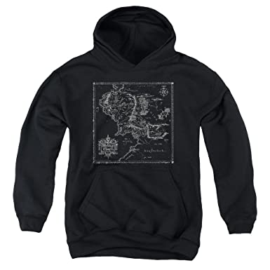 Amazon.com: Youth Hoodie: Lord of The Rings- Middle Earth Map ...
