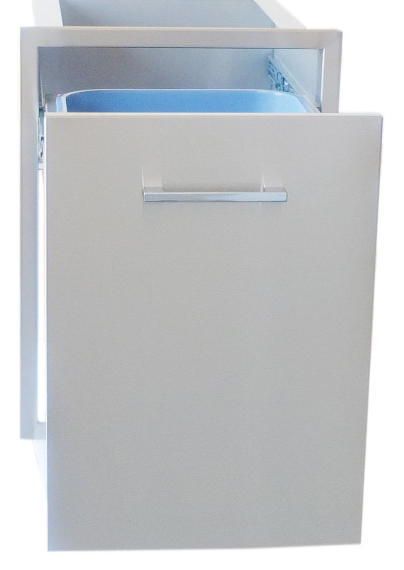 SUNSTONE BA-TRD1724 Beveled Frame Drawer with Two Trash Bins, 17 by 24'' by SUNSTONE (Image #2)