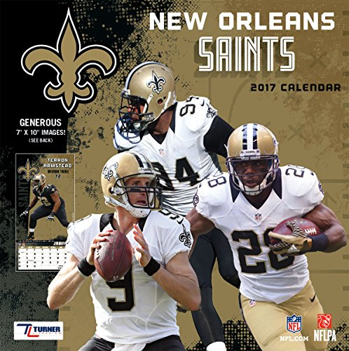 Turner Licensing Sport 2017 New Orleans Saints Mini Wall Calendar (17998040570)