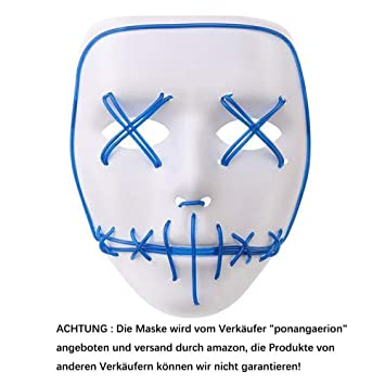 Alxcio LED Light EL Wire Cosplay Maske für Halloween Christmas Party ...