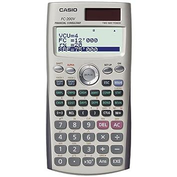 266c9ecb36c7 Casio fc-200 V calculadora financiera  Amazon.es  Electrónica