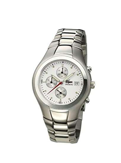 Lacoste 3510C 62/1 - Reloj analógico de caballero de cuarzo con correa de acero
