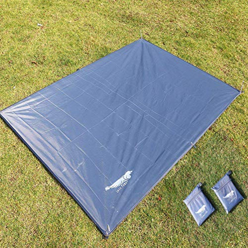 4 Person Floor Saver - Luxe Tempo All Purpose Tent Tarp 1-4 Person Footprint for Floor Saver Picnic Blanket Easy Rain Cover Sun Shelter for Hammock-Waterproof Lightweight