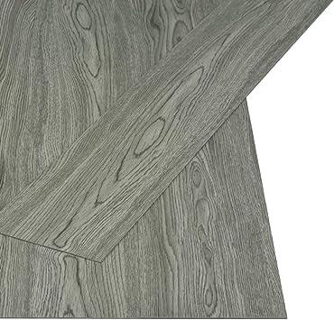vidaXL Lamas para Suelo PVC Autoadhesivas 4,46 m² 3 mm Gris Losetas Solería: Amazon.es: Bricolaje y herramientas