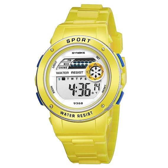 YpingLonk_ Relojes Analógico para Unisex de Cuarzo Niño Multifuncional Impermeable de Acero Inoxidable Relojes Clásico y Vintage con Cadena Accesorios: ...