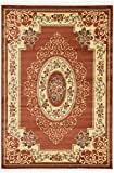 Clearance 6′ 7 x 9′ 6 Feet Versailles Area Rug Brown limited Time Offer – Perfect for any floor Rugs & Carpets