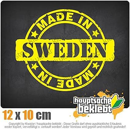 Neon Sticker Aufkleber Chrom Kiwistar Made in Sweden 12 x 10 cm IN 15 Farben