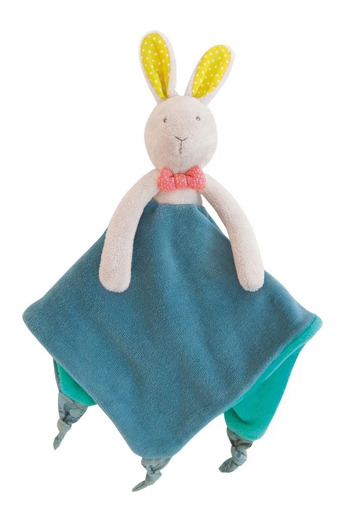 Moulin Roty Mademoiselle et Ribambelle Bunny Lovey Security Blanket 657016