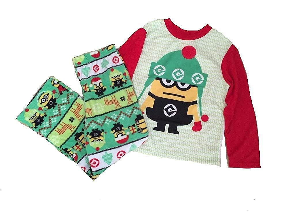 Despicable ME Christmas Santa Minion Size 8 Pajama Set