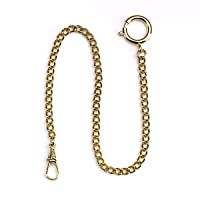 London, Pocket Watch Chain, Gold with Ring