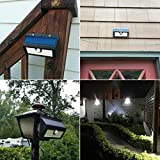 LtrottedJ 20 LED Solar Power PIR Motion Sensor Wall Light ,Outdoor Garden Waterproof Lamp