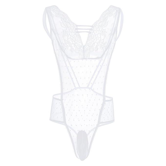 YiZYiF Conjunto Sexy Lencería una Pieza para Hombre de Malla Transparente  Mono Ropa de Dormir  Amazon.es  Ropa y accesorios a56cfe476f76