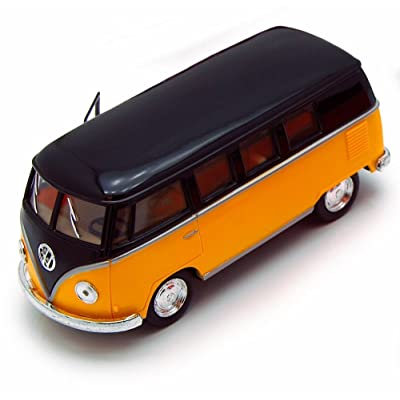 1962 Volkswagen Classical Bus, Yellow - Kinsmart 5376D - 1/32 Scale Diecast Model Toy Car, but NO Box: Toys & Games