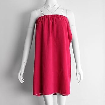 Dolity Toalla Absorbente de Cuerpo de Ducha de Playa para Mujer - Rojo: Amazon.es: Hogar