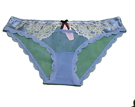 ffa4c9e17f Image Unavailable. Image not available for. Color  VICTORIA S SECRET Dream  Angels allover lace Hipkini Panty Medium Blue