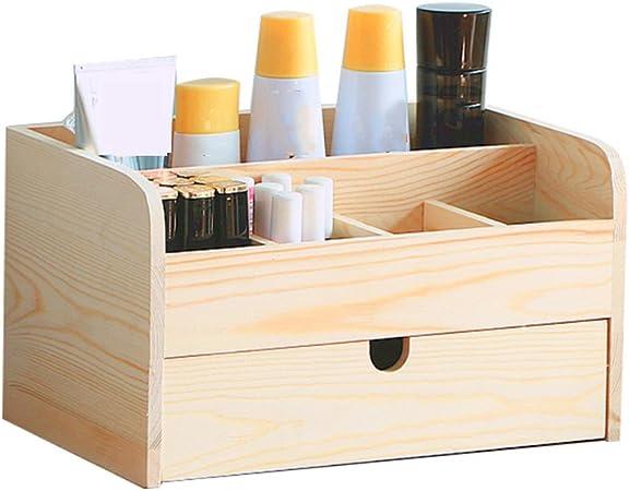 Organizador de Archivos de Mesa Cajón del estante de madera de la caja de almacenamiento de