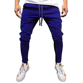 Mumustar - Pantalones de chándal para Hombre, elásticos, Ajustados ...