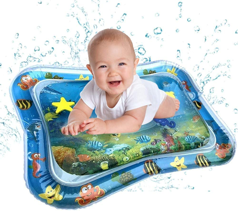 refulgence US Stock Infant Toys Tummy Time Mat for Infants and Toddlers Baby Water Mat Inflatable Play Mats for 3 6 9 Months Newborn Entertainment Time Gifts