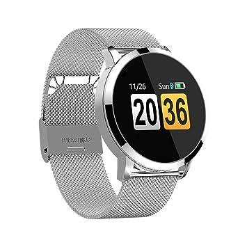 Cebbay Reloj Inteligente Monitor de presión Arterial/oxígeno en Sangre/frecuencia cardíaca Pantalla a Color Impermeable Pulsera Activa Podómetro Rastreador ...