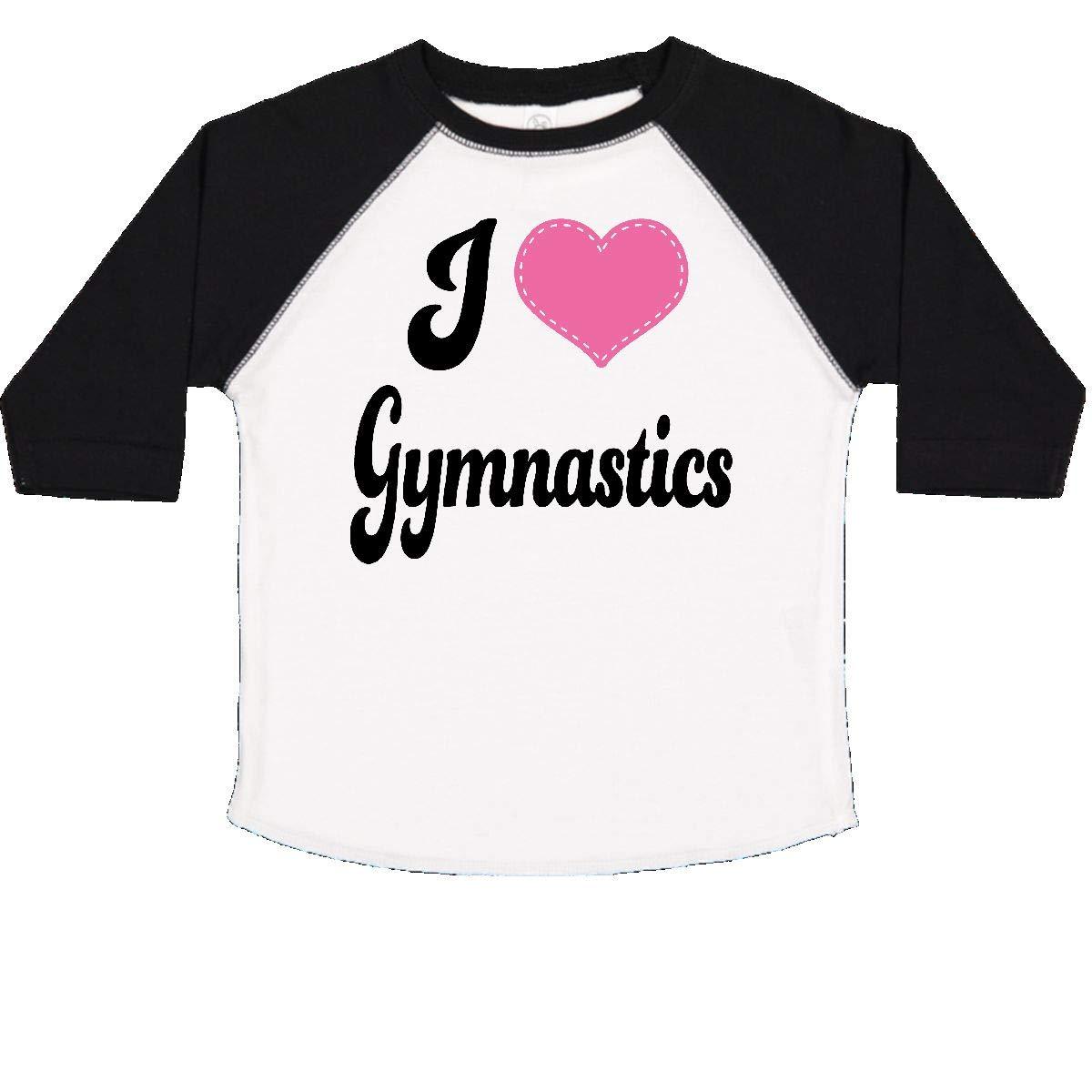 inktastic I Love Gymnastics Toddler T-Shirt