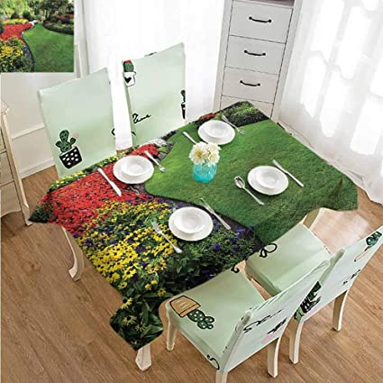 Endless Grass 3D Tablecloth Table cover Cloth Rectangle Wedding Party Banquet