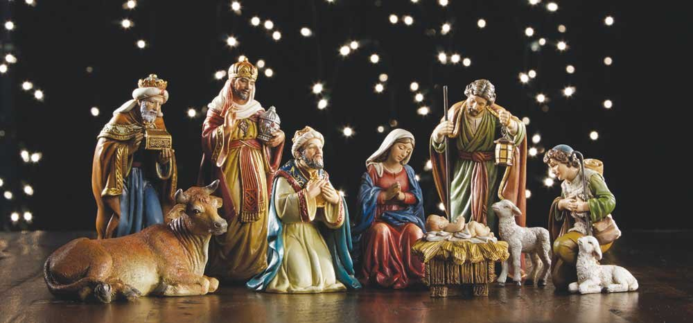 9 Piece Michael Adams Nativity Set