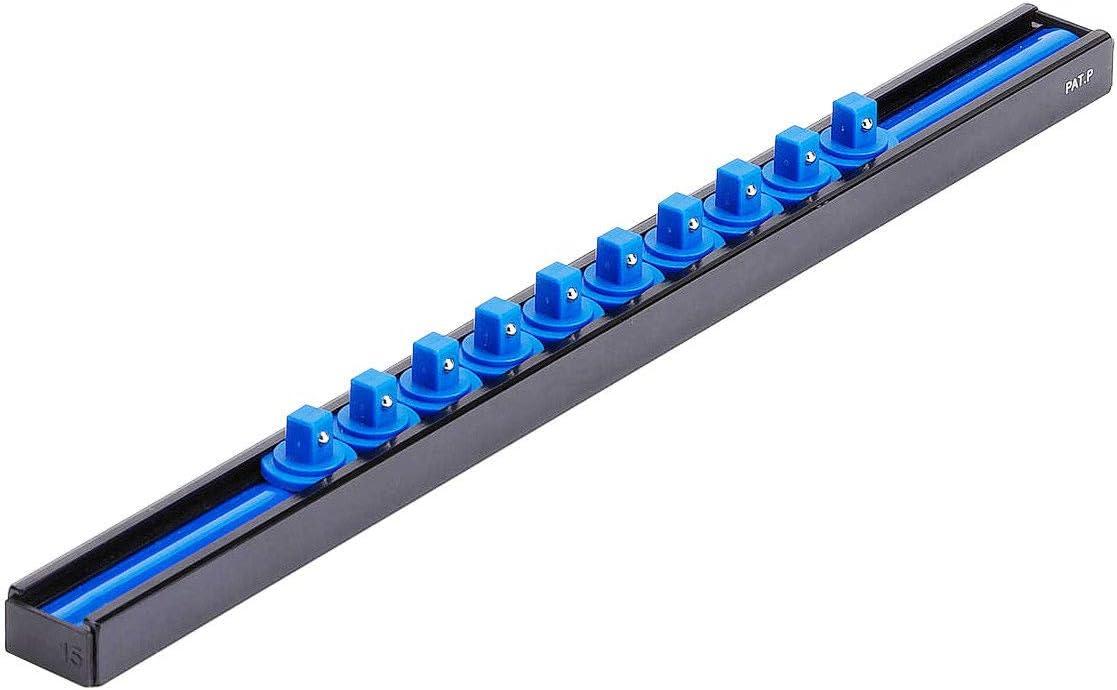 Hyper Tough 1//2-INCH DRIVE SOCKET HOLDER Aluminum Rail HOLDS UP TO 10 SOCKETS
