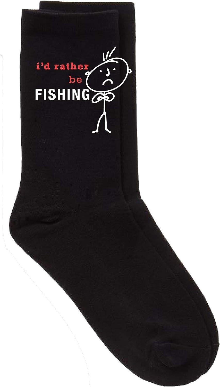 Fishing Socks Mens I/'d Rather Be Fishing Socks Fathers Day Dad Present Boyfriend Husband Uncle