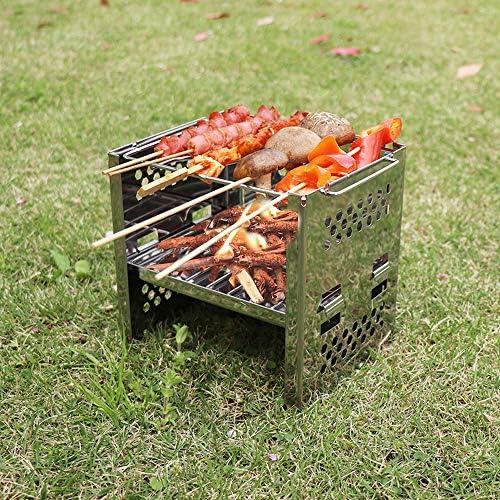 MXian Grill au Charbon Simple léger Portable, Grill Pliable Barbecue Perfect Premium BBQ Grill pour Les campeurs en Plein air Amateurs de Barbecue