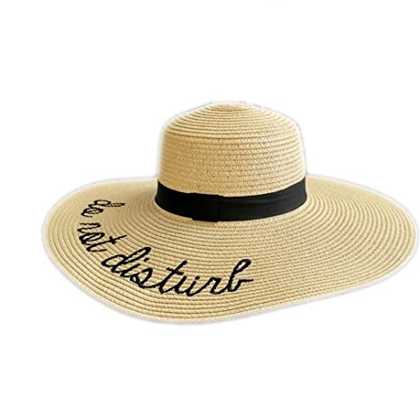 c7bf9b43bc6 Sun Hat Embroidery Cap Big Brim Ladies Summer Straw Hat Youth Hats for Women  Shade Beach