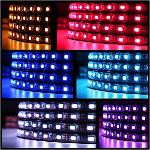 90-120cm LED N/éon 4pcs For Voiture RVB Couleurs Courantes Musical Sync Sous La Voiture Auto Tube N/éon Bande De Lumi/ère Sans Fil /À Distance