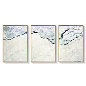 """NWT Framed Canvas Wall Art for Living Room, Bedroom Abstract Zen Canvas Prints for Home Decoration Ready to Hanging - 24""""x36""""x3 Panels"""