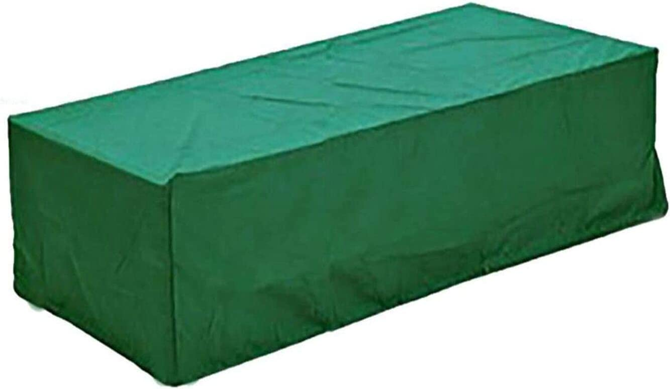 logei®Funda para Muebles de Jardín Funda Protectora para Mesas Impermeable,152x104x71cm,Color Verde Oscuro