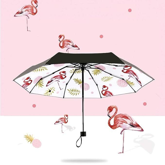 Sombrilla con Estampado de piña Flamingo Anti-UV con Protector Solar Soleado THANSANDAU: Amazon.es: Hogar