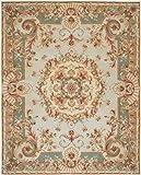 Safavieh Savonnerie Collection SAV201B Handmade Traditional European Blue Wool Area Rug (8' x 10')