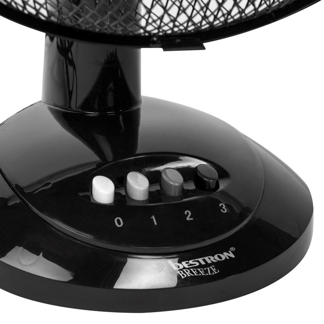 30 W 27 cm Bestron DDF27Z Ventilateur de Table Noir