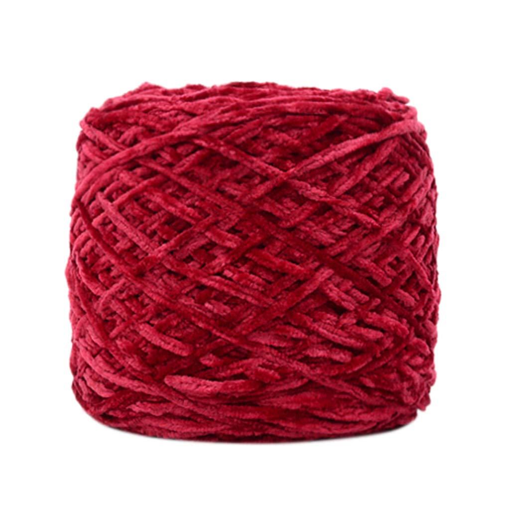 SiQing 250g Wool Gold Velvet Yarn DIY Crochet Roving Knitting Household Puppet Thickness Toys Sweaters Hats Socks (Multicolor L)