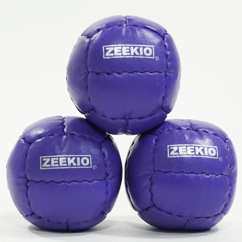 Set of 3 Zeekio Galaxy 12 Panel Leather Juggling Ball Pink