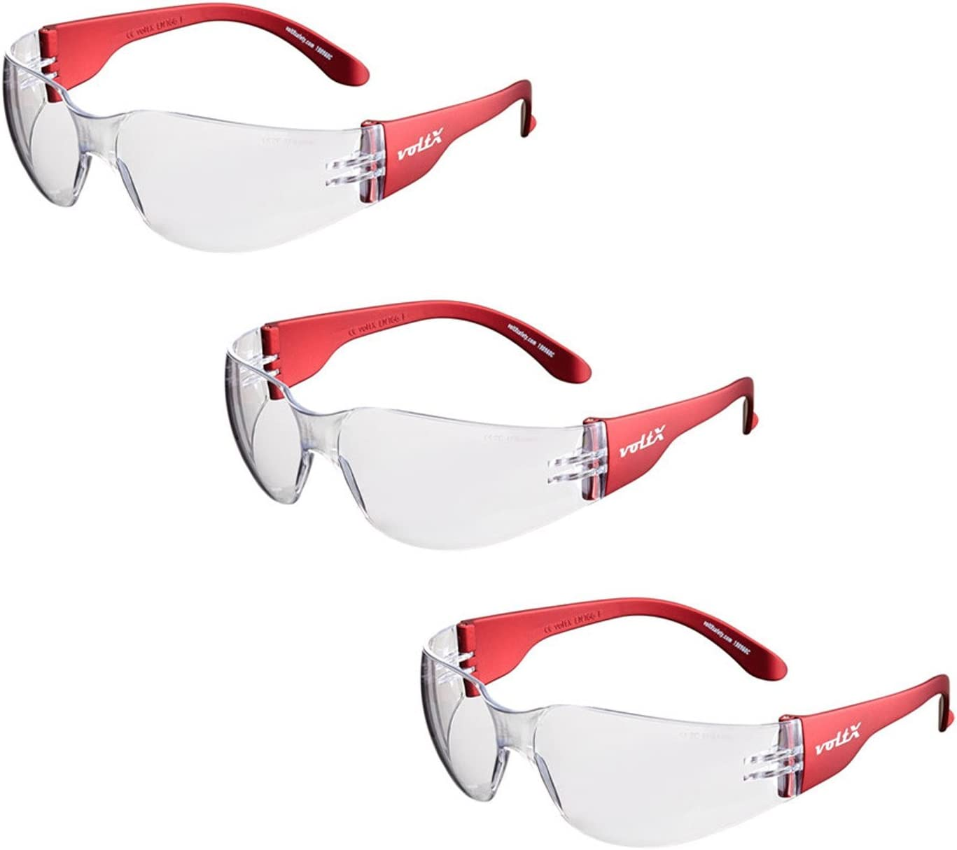 3 x voltX /'GRAFTER/' Bifocal Lightweight Industrial Reading Safety Glasses Clear Lens +1.0 CE EN166f Certified//Cycling Safety Glasses