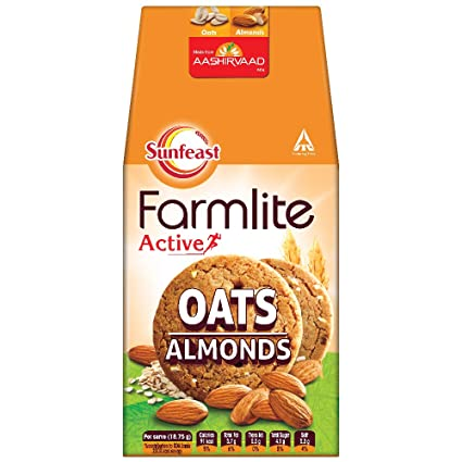 Sunfeast Farmlite Active Oats With Almonds Biscuits 150g Amazon In Amazon Pantry