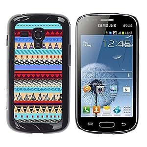 - Hipstr Nebula Aztec Tribal Pattern - - Monedero pared Design Premium cuero del tir¨®n magn¨¦tico delgado del caso de la cubierta pata de ca FOR Samsung GALAXY Trend Duos S7562 Funny House