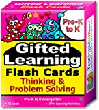 TestingMom.com Gifted Learning Flash Cards – Thinking & Problem-Solving Pre-K – Kindergarten – Gifted Talented Educational Toy Practice CogAT, OLSAT, Iowa, SCAT, WISC, ERB, WPPSI, AABL more
