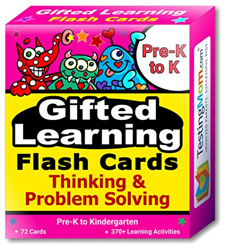 Gifted Learning Flash Cards Bundle - Kindergarten-in-A-Box - Math Concepts, Thinking & Problem Solving, Working Memory, Following Directions (Set 1) by TestingMom.com (Image #4)