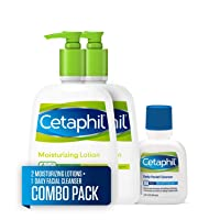 Cetaphil Moisturizing Lotion for All Skin Types, Body and Face Lotion, Two 16 Fl...