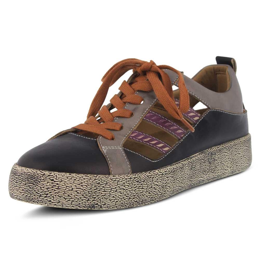 L`Artiste Womens Porscha Sneaker B079C3PHBW 42 M EU|Black Multi Leather